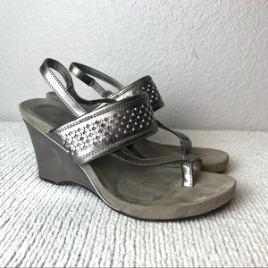 Style & Co Santana Metallic Slingback Wedge